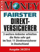 laut Focus Money fairster Direktversicherer 2014